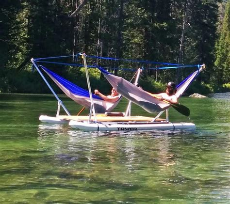crestliner boat hammock this hammock boat lets you relax in up to 4 hammocks while