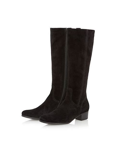 gabor footwear womens toye suede knee high flat boots