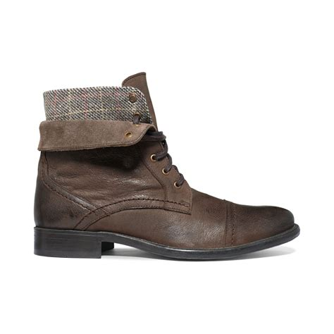 hush puppies brock cap toe boots in brown for