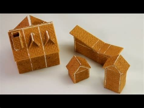 graham cracker house assembling graham cracker gingerbread houses youtube