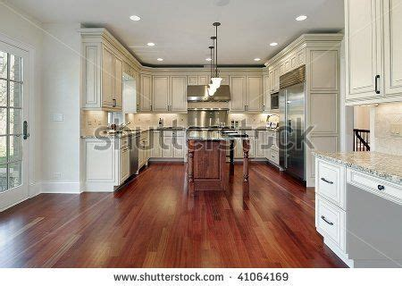 white cabinets with cherry stain floor for the home in