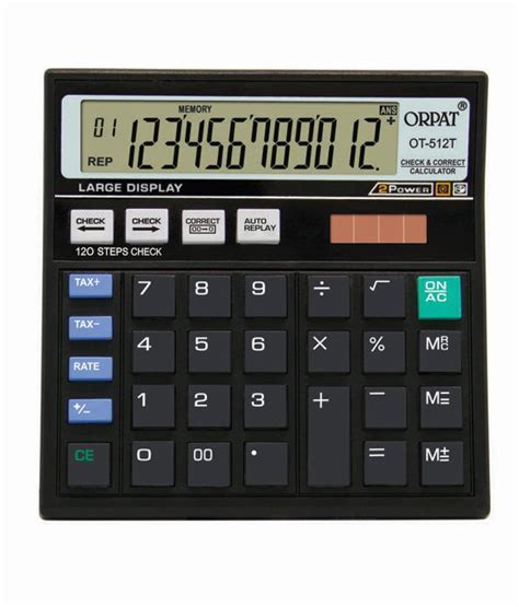 calculator you can write on orpat ot 512t check correct calculator buy online at