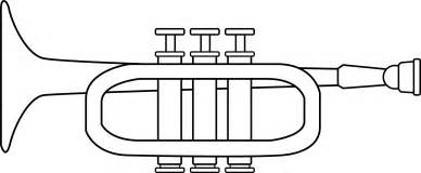 Trumpet Coloring Page  Free Clip Art sketch template