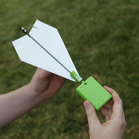 How To Make A Motorized Paper Airplane - this conversion kit turns your paper plane into an