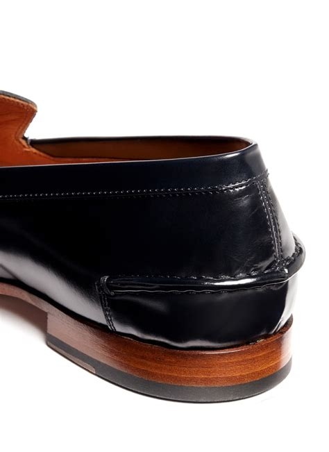 Mcqueenleather Loafers mcqueen leather loafers in black for