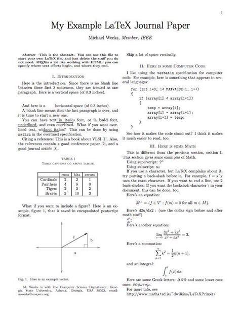 latex syntax tutorial latex exle