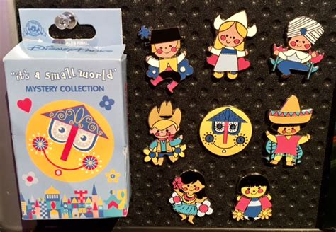 Small Pins it s a small world mystery pin collection disney pins