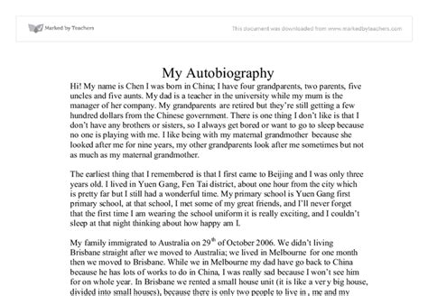 Biography Essay About Yourself Exles | best photos of autobiography exles about myself math