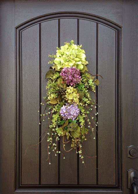 spring wreath summer wreath wispy wild teardrop twig door swag
