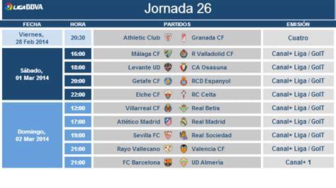Calendario R Zaragoza Modificaci 243 N De Horarios De La Jornada 26 De La Liga Bbva