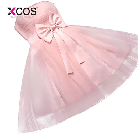 new 2017 plus size prom bridesmaid toast suit strapless pink white purple dress