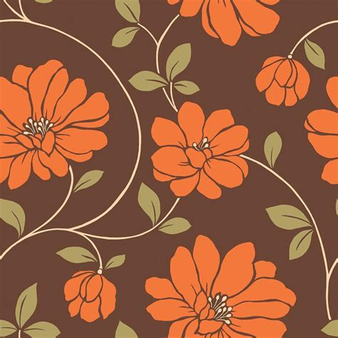 the wallpaper company 8 in x 10 in orange and brown