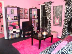 pink zebra bedroom fashionable teen hangout lounge design dazzle
