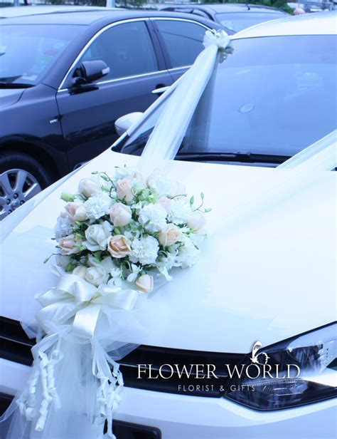 Fresh Flower Decoration   Fresh Flower Bridal Car Deco