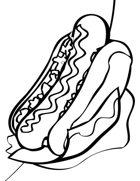 coloring pages of hot dogs hot dog coloring page www pixshark com images