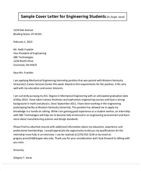 cover letter mechanical engineer graduate 32 application letter sles free premium templates
