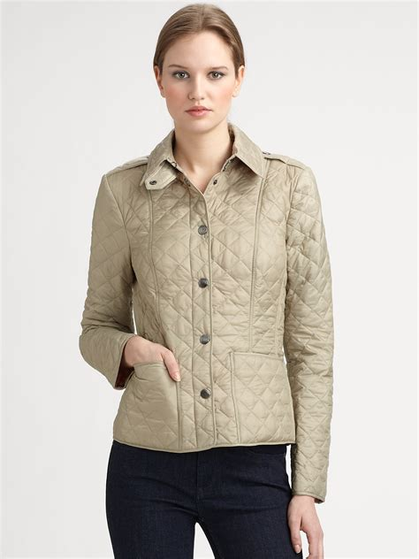 Quilted Jacket Burberry by Burberry Brit Kencott Quilted Jacket In Green Lyst