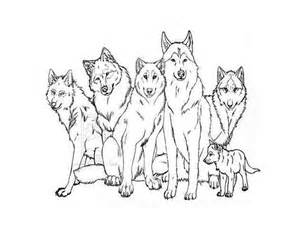 Wolf Pack Coloring Pages wolf template animal templates free premium templates