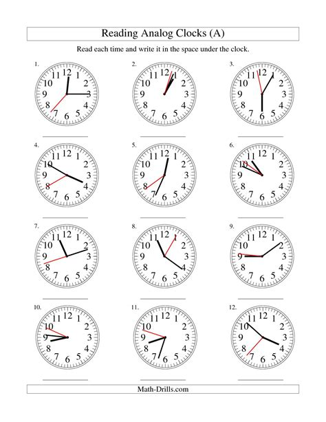 Analog Clock Practice Worksheets by Best Photos Of Analog Clock Worksheets Reading Analog