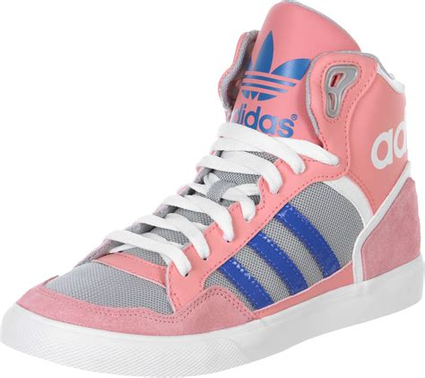 adidas extaball  shoes pink blue grey