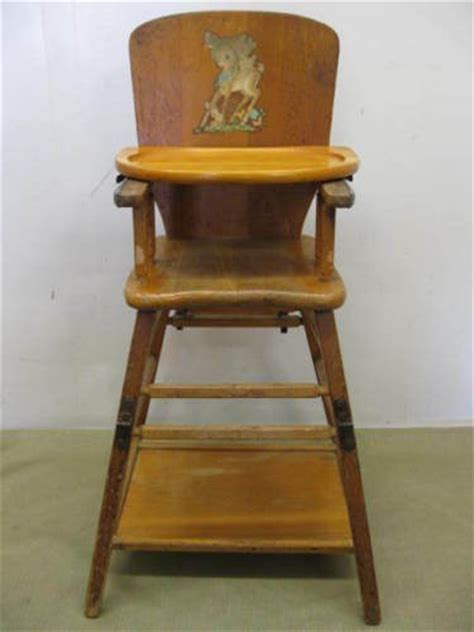 Antique Wooden High Chair by Vintage Antique Wooden Baby High Chair