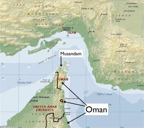 map of uae and iran the great musandam peninsula part 2 thekaloka