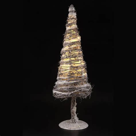 rattan christmas tree with lights by little red heart