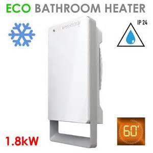 Eco Slim Bathroom Wall Fan Heater Electric Ip24 Eco Slim Bathroom Electric Wall Fan Heater