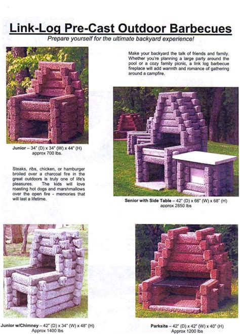 Link Log Fireplace by Link Log Outdoor Fireplaces Barbecues