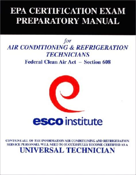 epa section 608 test answers esco institute section 608 certification exam preparatory