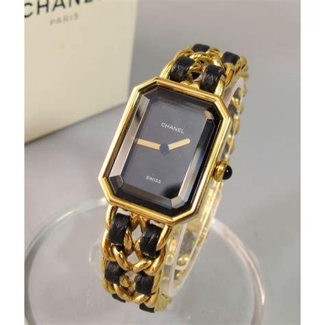chanel premi 232 re quartz gold plated ref a51006