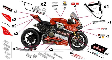 Ducati 1199 Sticker by Stickers Ducati Aruba Sbk 2016 899 1199 Panigale R