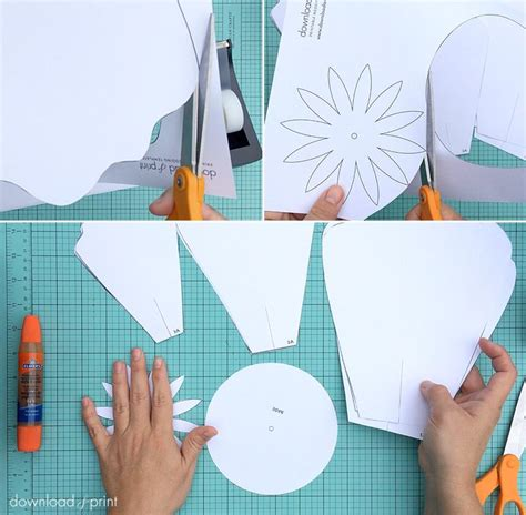 How To Make Paper Flower Petals - free petal template to make paper roses