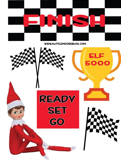 elf on the shelf movie night printable elf on the shelf racing printables a little moore