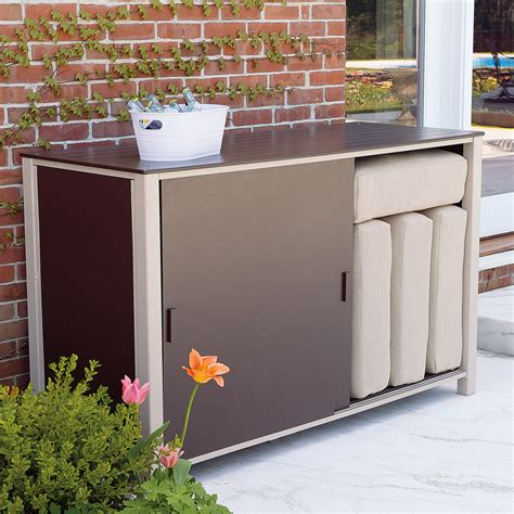 outdoor storage seat in deck boxes outdoor storage bench