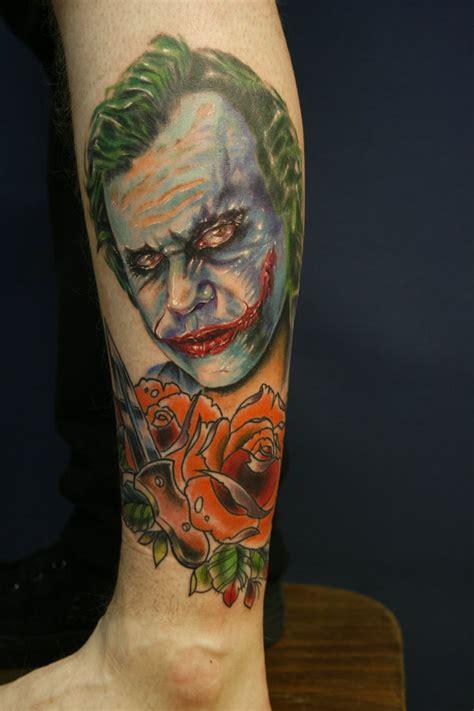 joker foot tattoo extra full