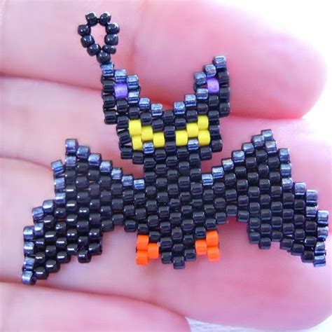 bead weaver bat peyote stitch pattern jewelry diy craft