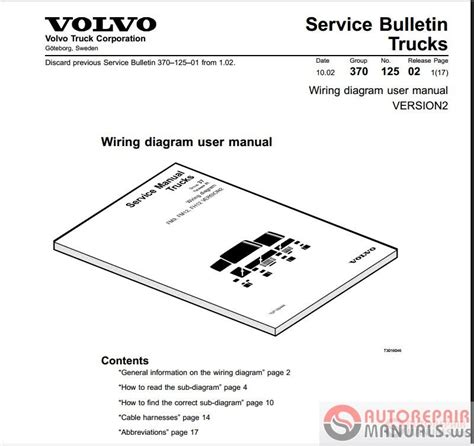 volvo wiring diagram auto repair manual