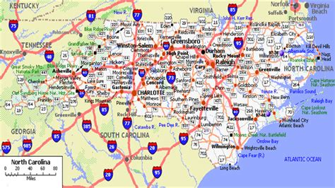 map of nc detailed road map of nc pictures to pin on