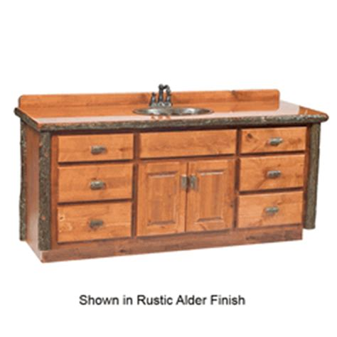 5 Foot Bathroom Vanity Fireside Lodge Hickory Log Vanity 5 Foot