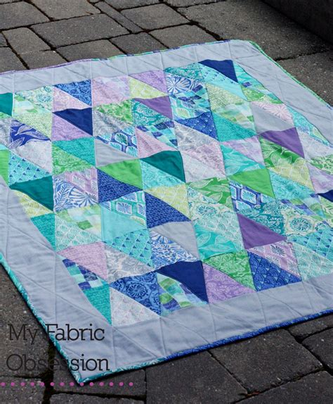 fabric obsession a triangle quilt for