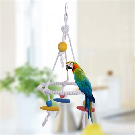 parakeet swing new design 35cm pet parrot toys nylon bird rope swing