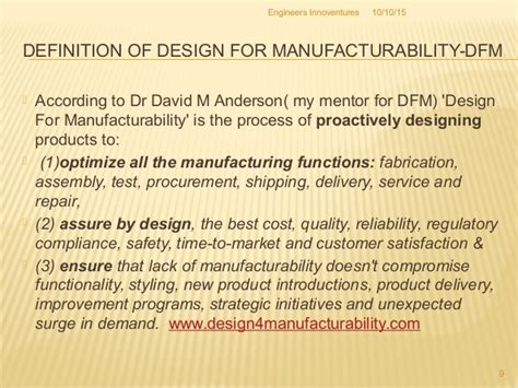 design for manufacturing and assembly delivers product improvements idea to product
