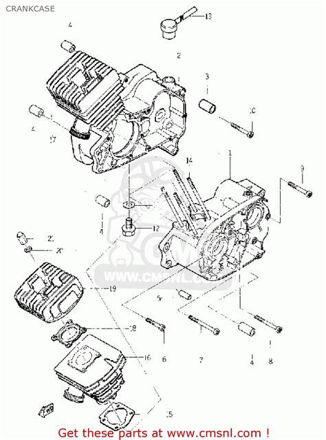 yamaha yl1 1966 1967 crankcase schematic partsfiche