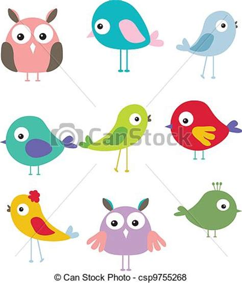 Stock Illustration Of Set Of Vector Of Set Of Different Bird Csp9755268 Search Clip Illustration