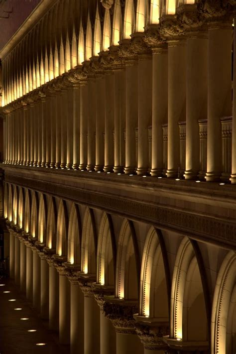 outdoor column lighting facade exterior column uplight exterior lighting spaces