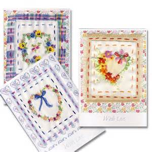 luxury embroidered greeting card with bow