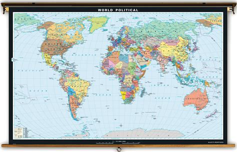 large world map klett perthes large world political map 106 quot x 71 quot
