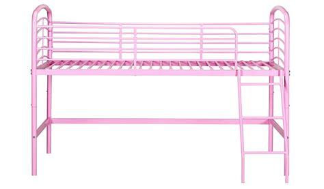 Metal Mid Sleeper Bed by George Home Metal Mid Sleeper Bed Pink Beds George