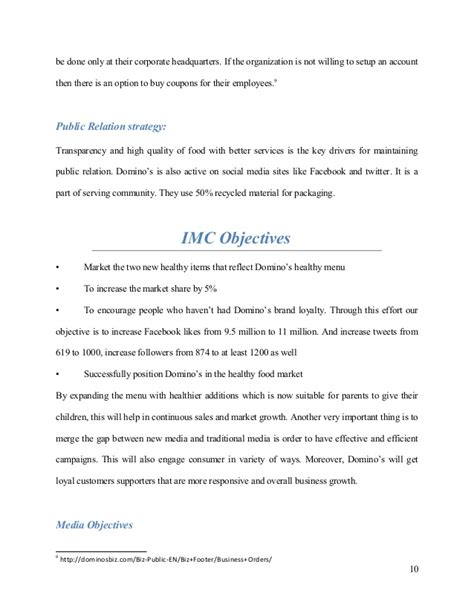dominos resume resume ideas
